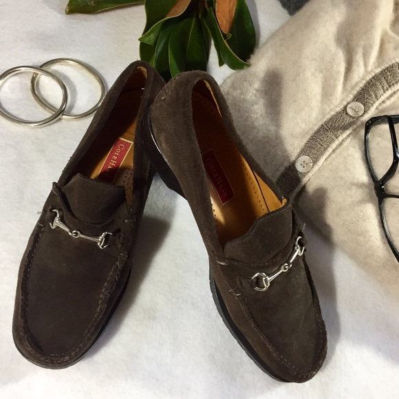 9381c67699b Cole Haan Shoes - Cole Haan Suede Loafers Sz 8 With Vibram Tech